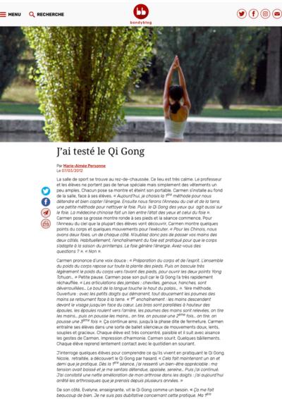Bondy Blog - J'ai testé le Qi Gong - Page 1