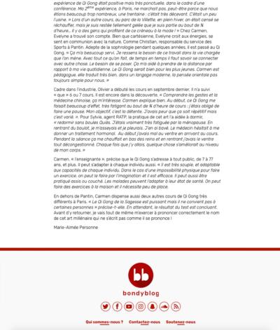 Bondy Blog - J'ai testé le Qi Gong - Page 2