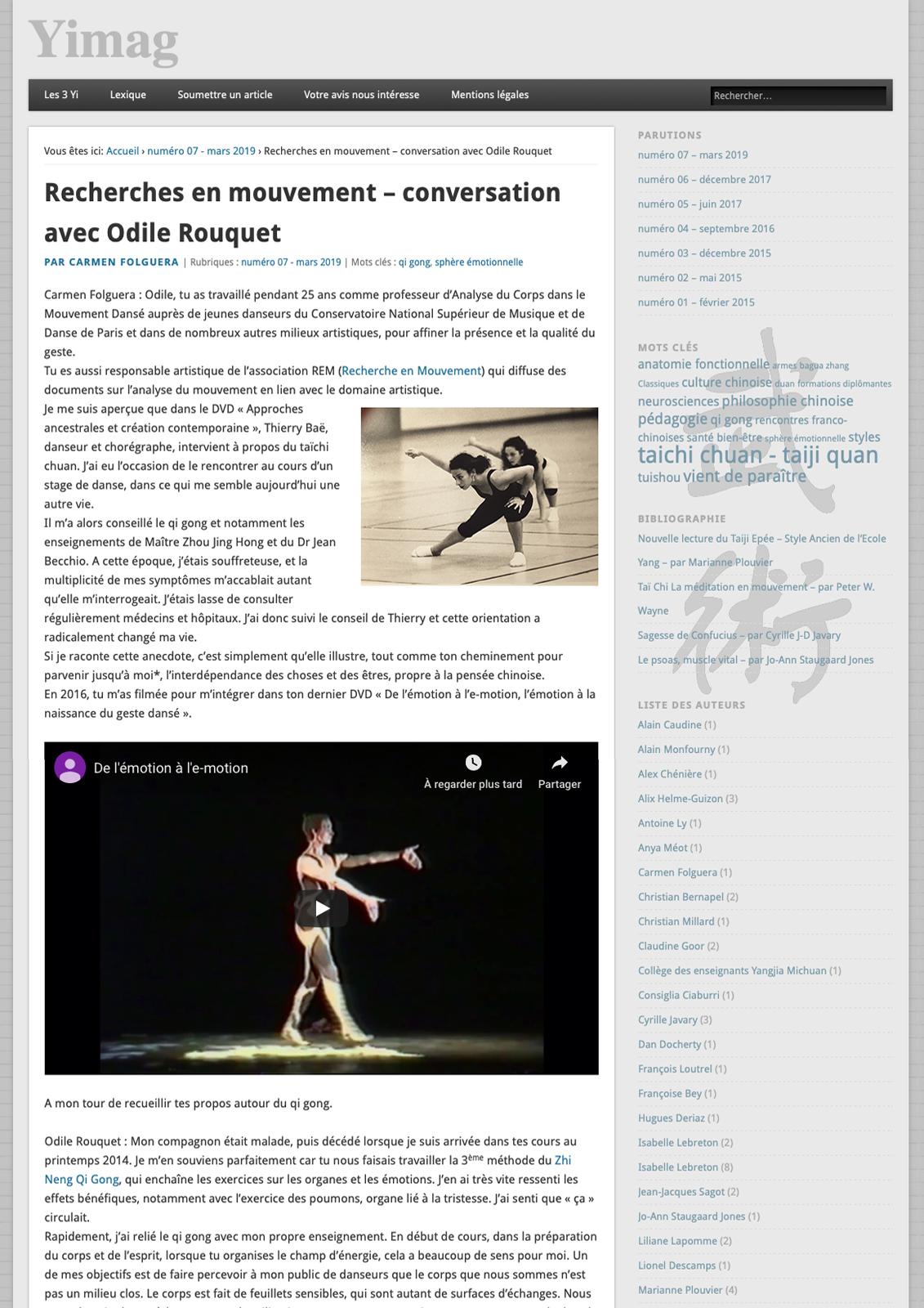 Article Yimag n°7 - Page 1